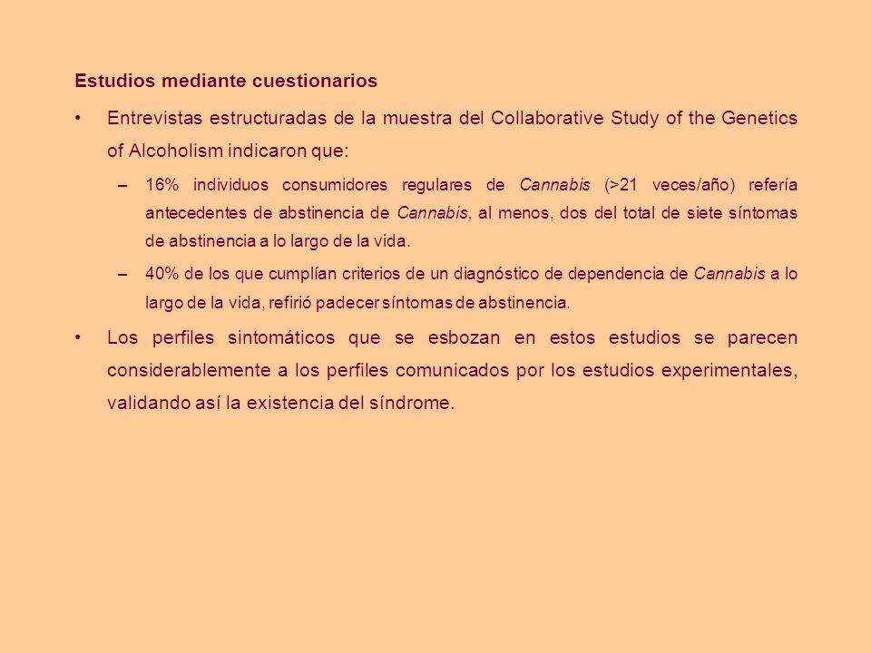 Estudios mediante cuestionarios