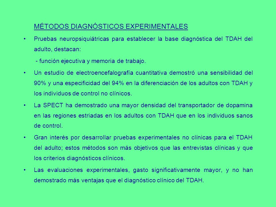 MÉTODOS DIAGNÓSTICOS EXPERIMENTALES