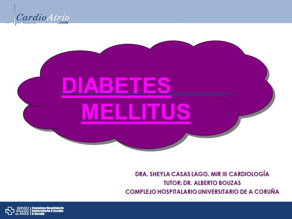 DIABETES MELLITUS DRA. SHEYLA CASAS LAGO. MIR III CARDIOLOGÍA