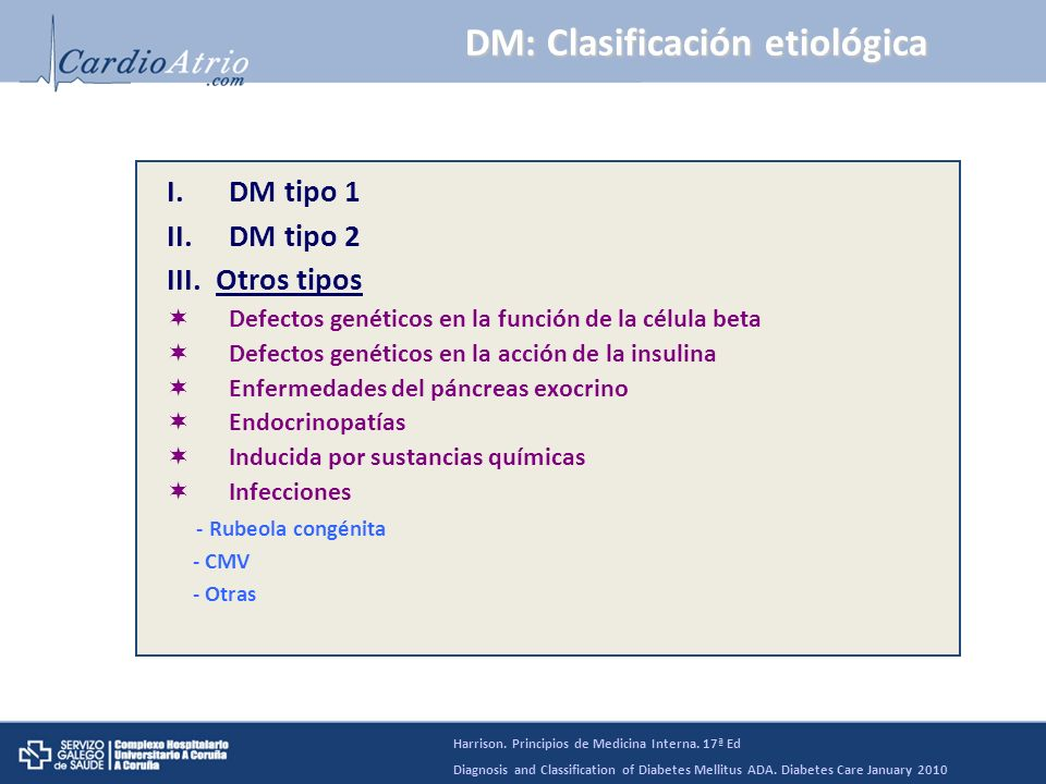 DM: Clasificación etiológica