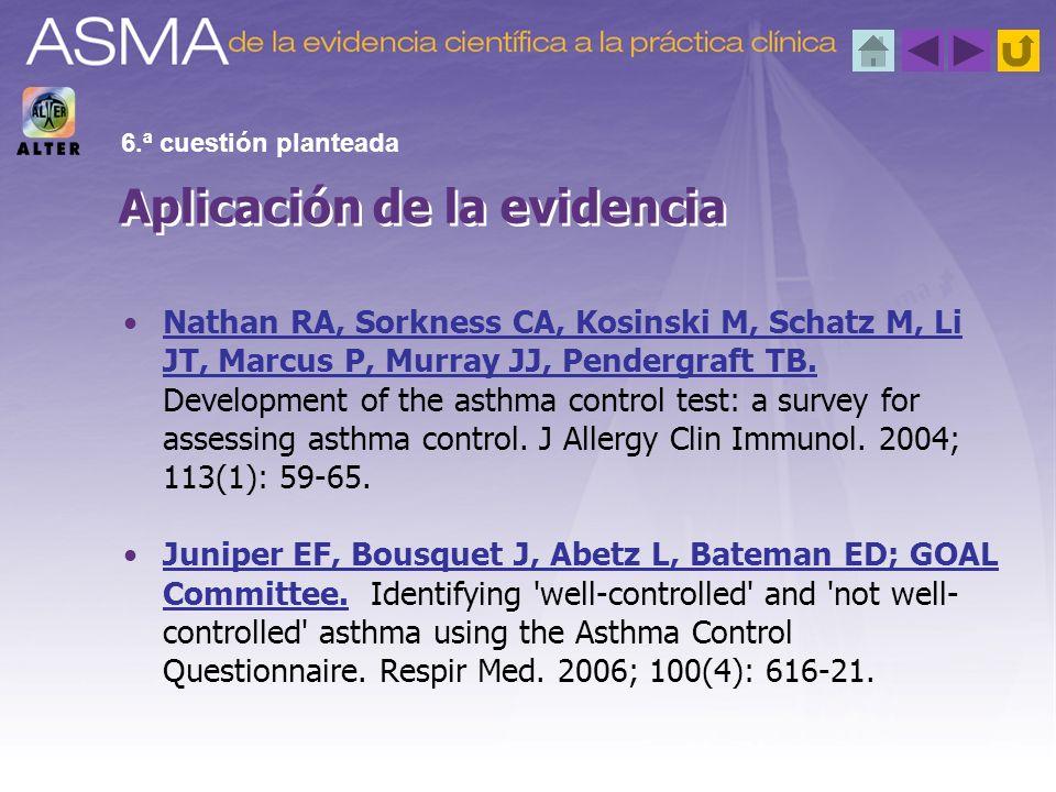 Aplicación de la evidencia