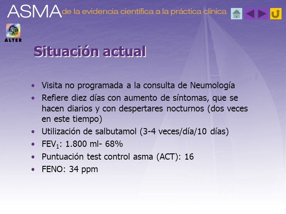 Situación actual Visita no programada a la consulta de Neumología