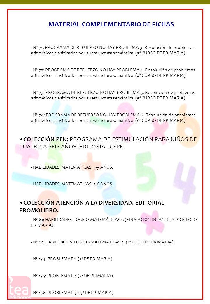 MATERIAL COMPLEMENTARIO DE FICHAS