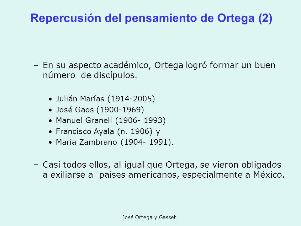 Repercusión del pensamiento de Ortega (2)