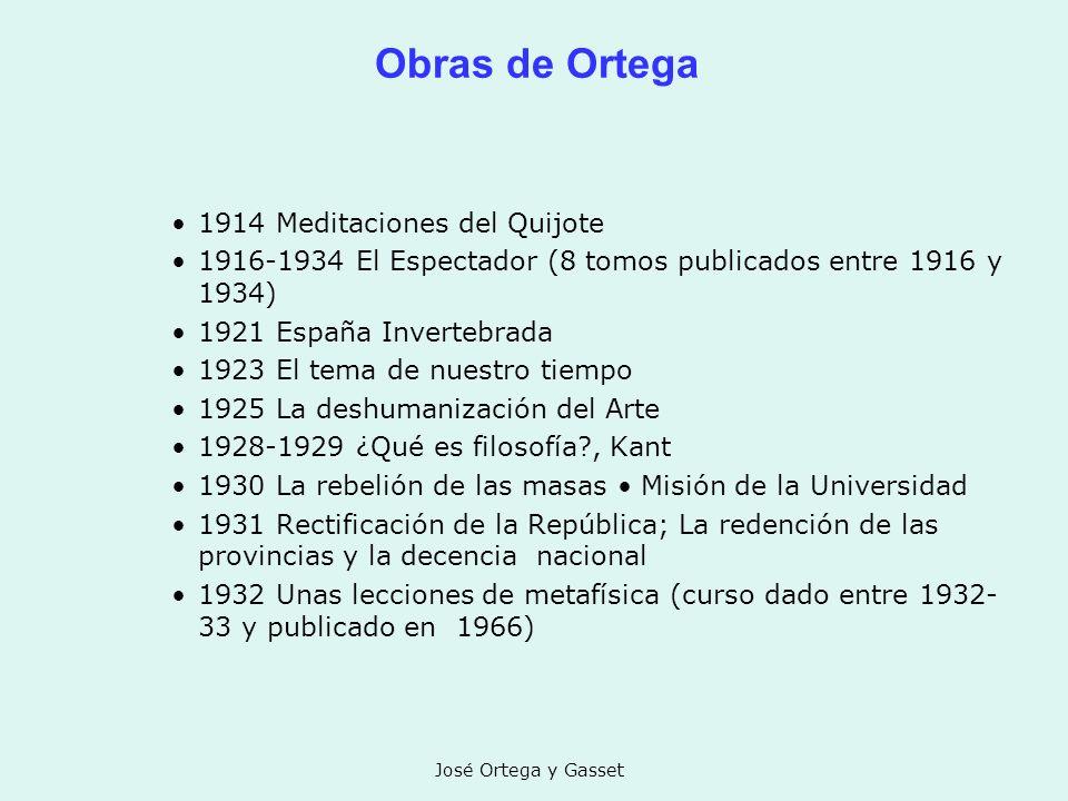 Obras de Ortega 1914 Meditaciones del Quijote