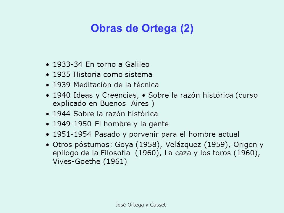 Obras de Ortega (2) 1933-34 En torno a Galileo