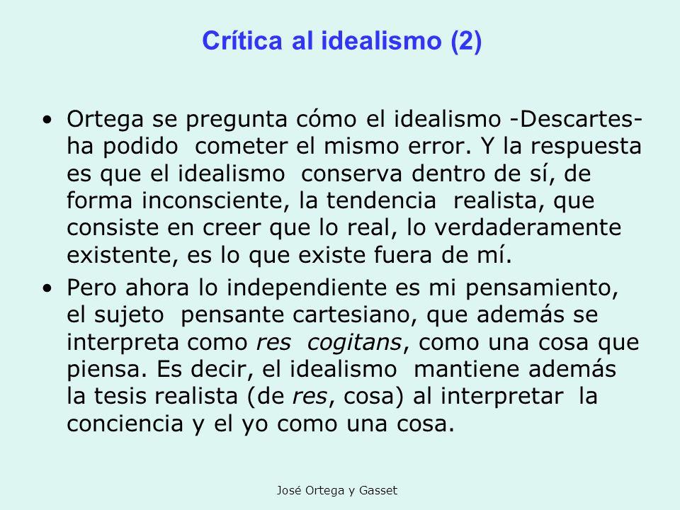 Crítica al idealismo (2)