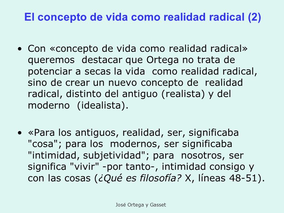 El concepto de vida como realidad radical (2)