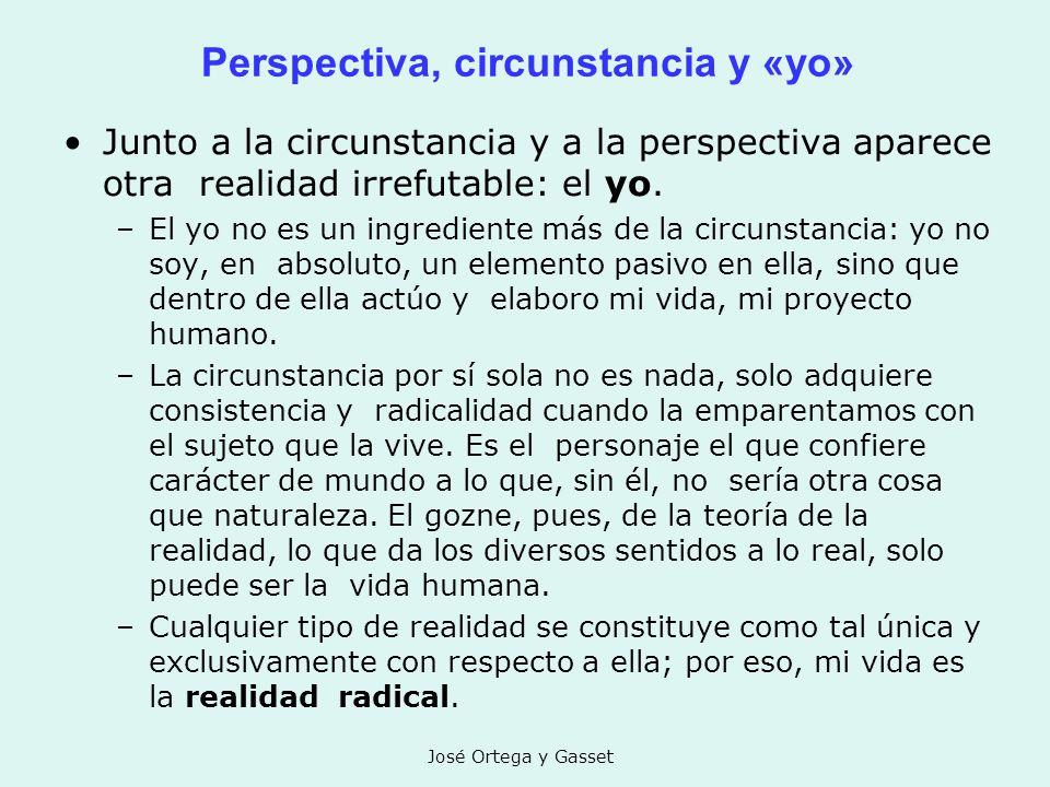 Perspectiva, circunstancia y «yo»