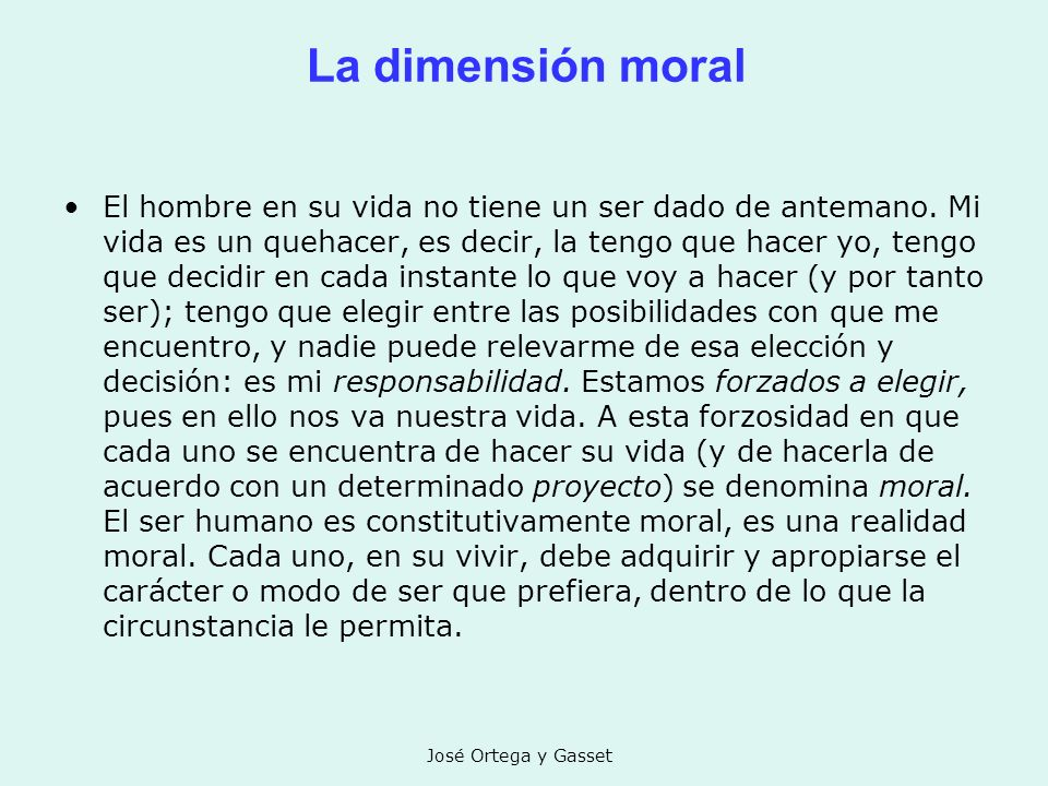 La dimensión moral