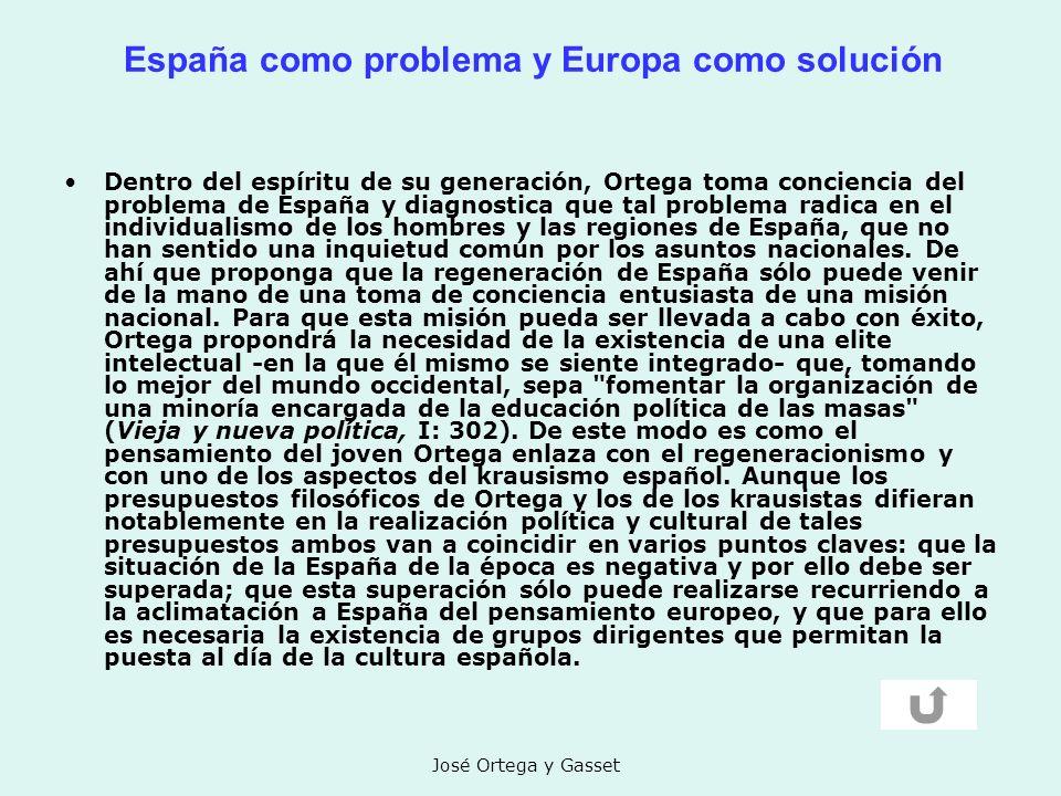 España como problema y Europa como solución
