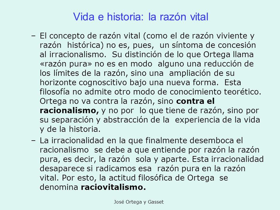 Vida e historia: la razón vital