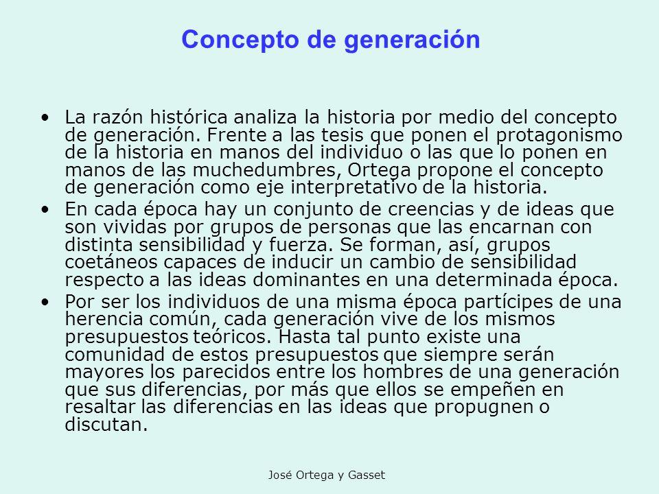 Concepto de generación