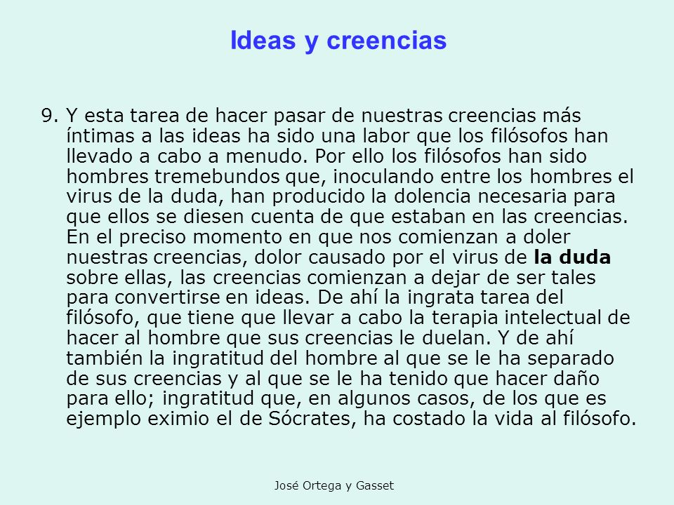 Ideas y creencias