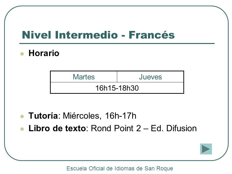 Nivel Intermedio - Francés