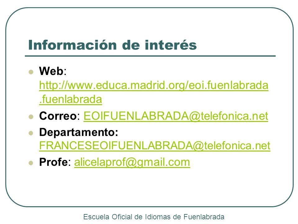 Información de interés