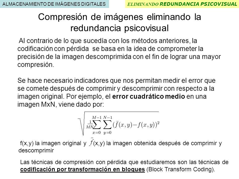 Compresión de imágenes eliminando la redundancia psicovisual