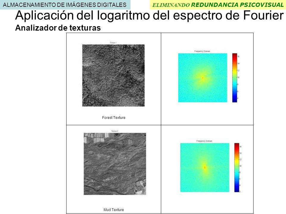 Aplicación del logaritmo del espectro de Fourier