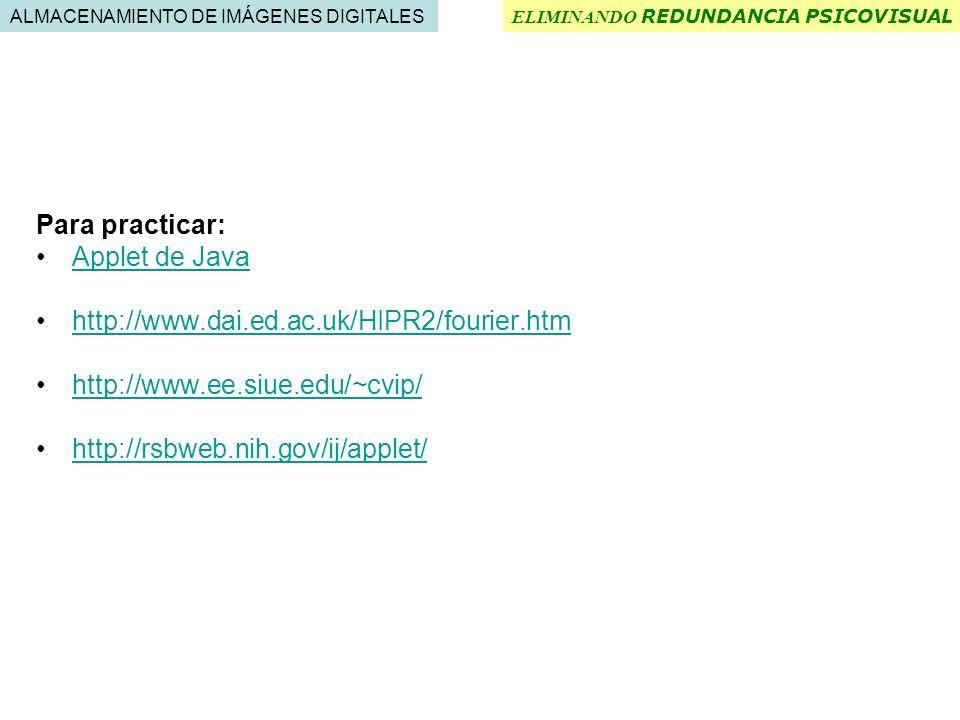 Para practicar: Applet de Java