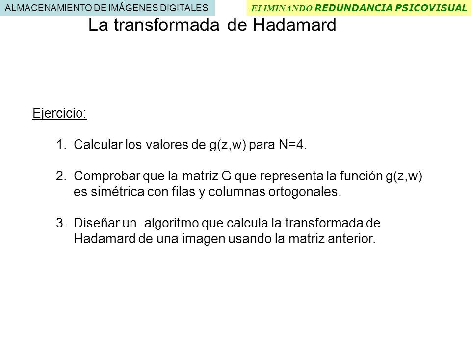 La transformada de Hadamard
