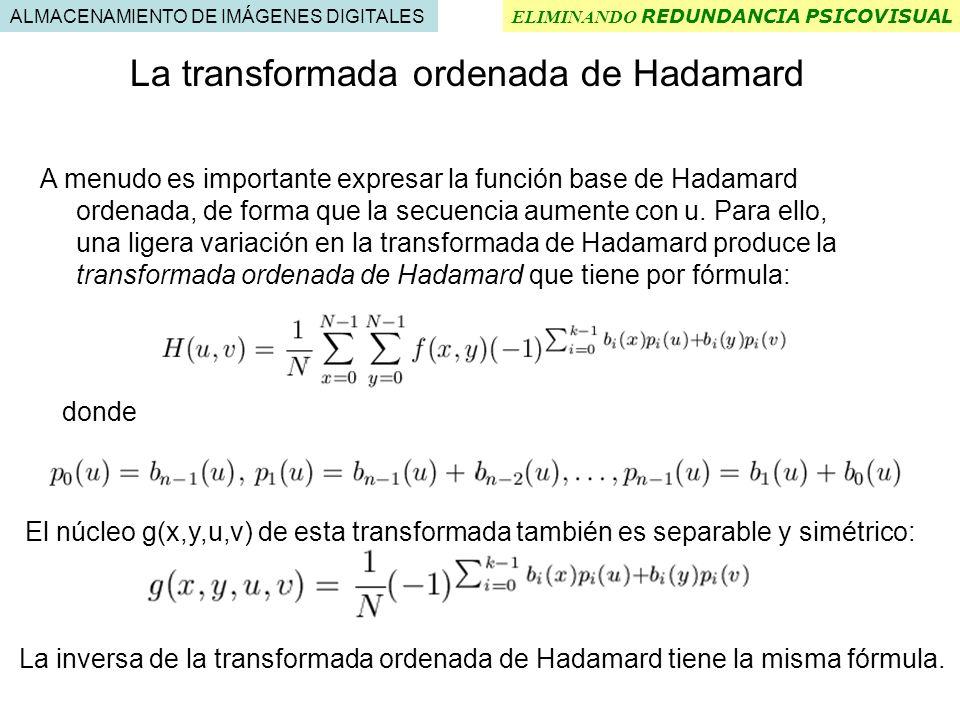 La transformada ordenada de Hadamard