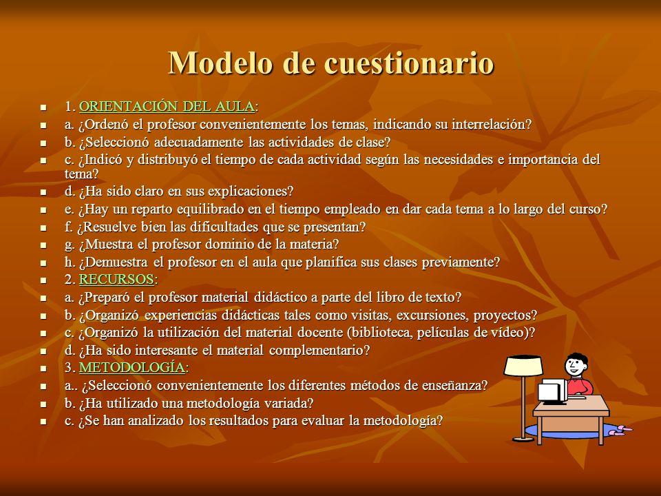 Modelo de cuestionario