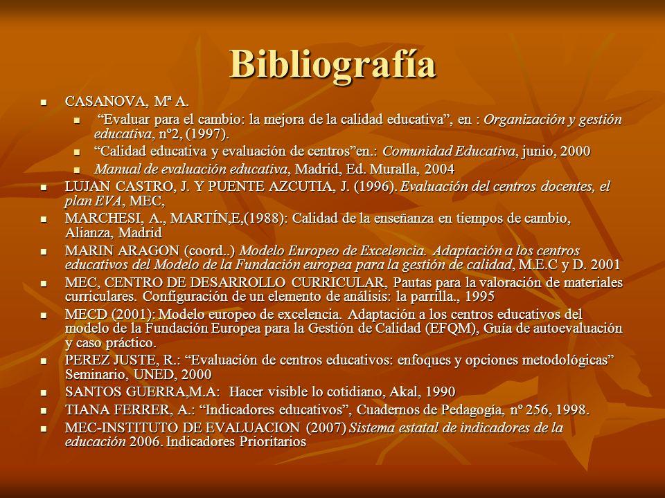 Bibliografía CASANOVA, Mª A.