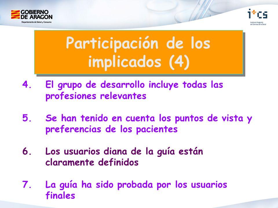 Participación de los implicados (4)
