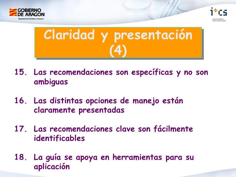Claridad y presentación (4)