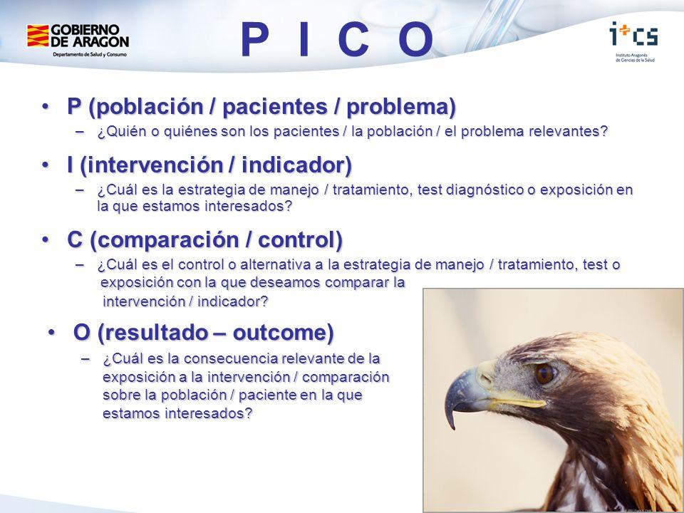 P I C O P (población / pacientes / problema)