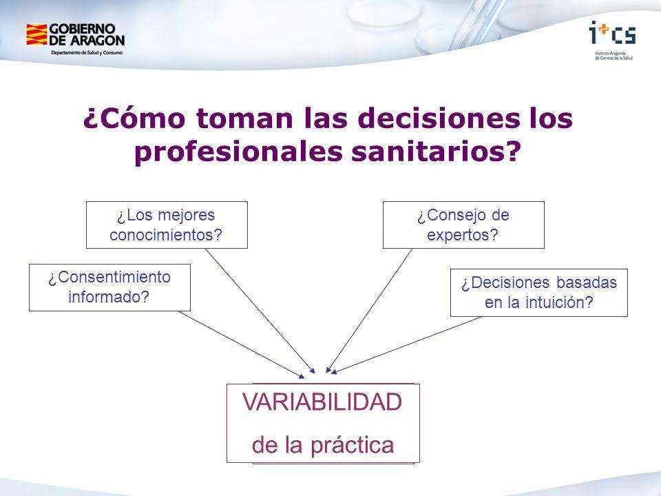 ¿Cómo toman las decisiones los profesionales sanitarios