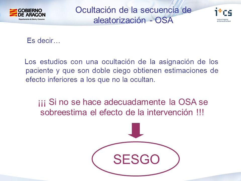 Ocultación de la secuencia de aleatorización - OSA