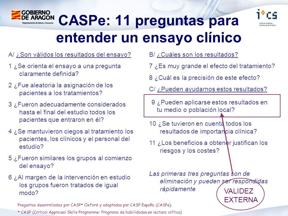 CASPe: 11 preguntas para entender un ensayo clínico
