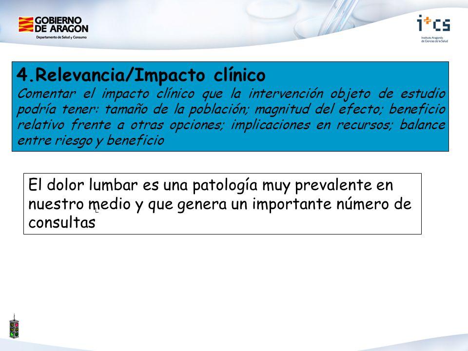 4.Relevancia/Impacto clínico