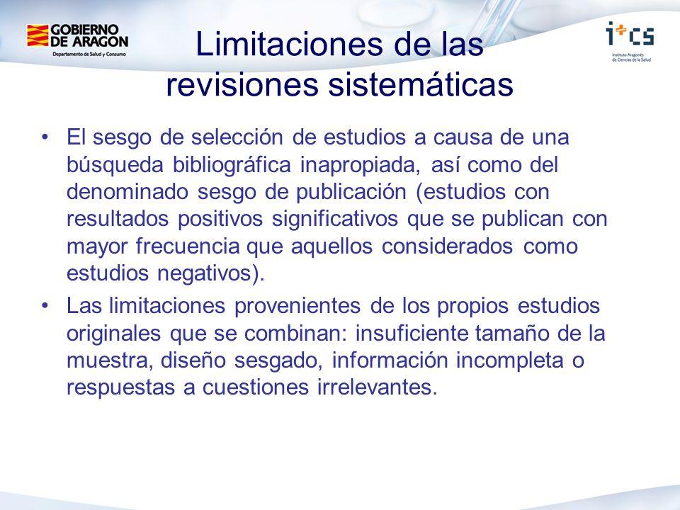 Limitaciones de las revisiones sistemáticas