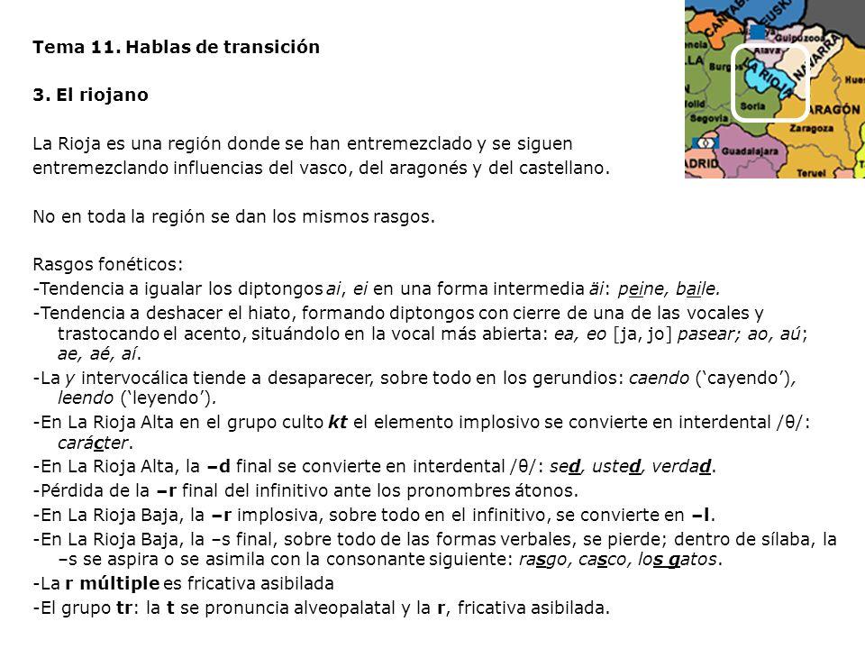 Tema 11. Hablas de transición