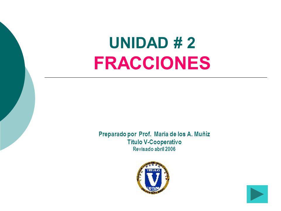 Preparado por Prof. María de los A. Muñiz