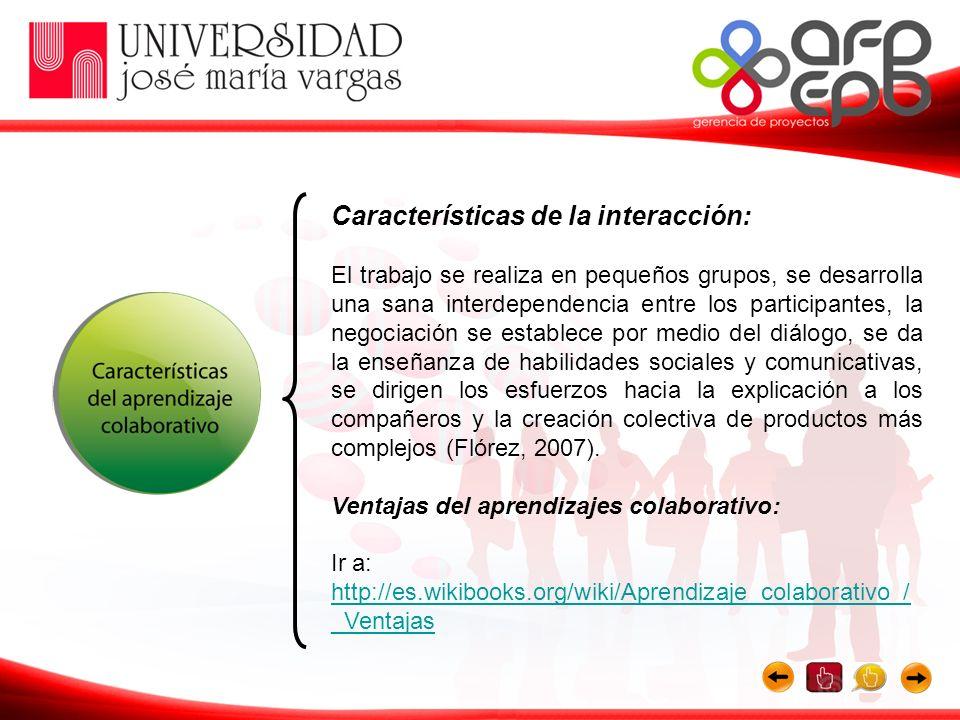 Características de la interacción:
