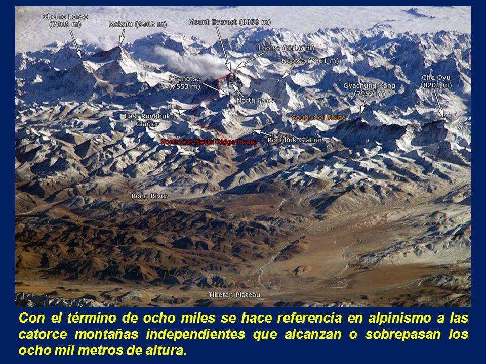 Con el término de ocho miles se hace referencia en alpinismo a las catorce montañas independientes que alcanzan o sobrepasan los ocho mil metros de altura.