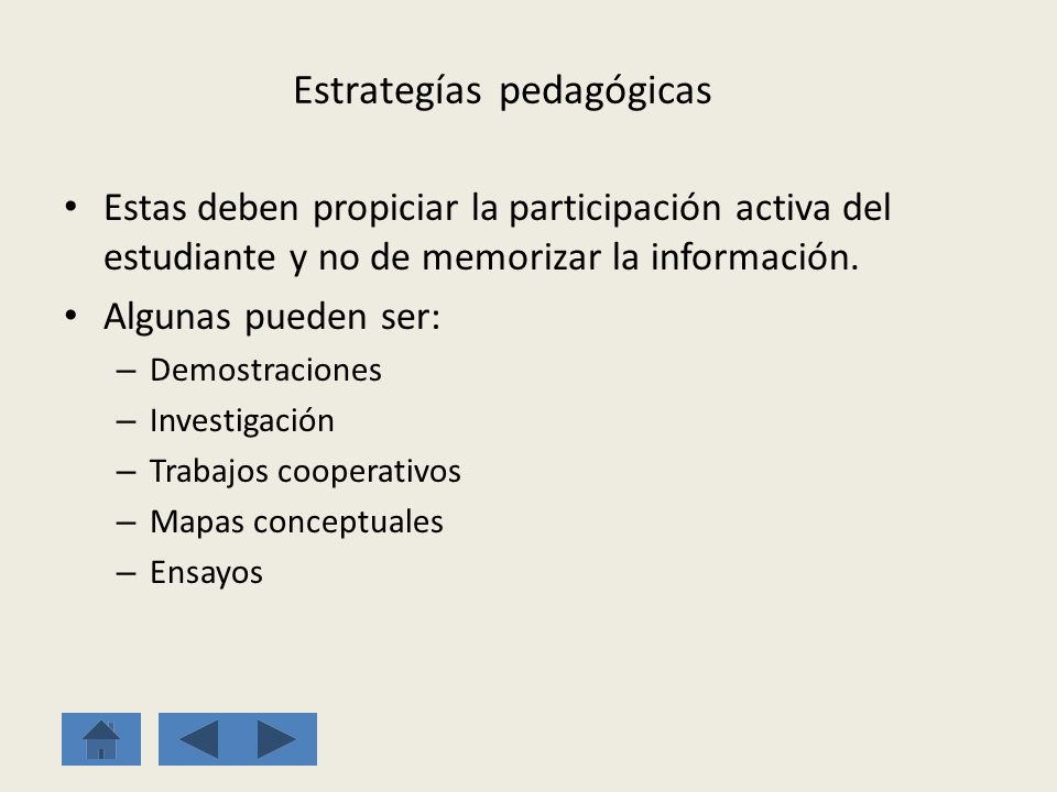Estrategías pedagógicas