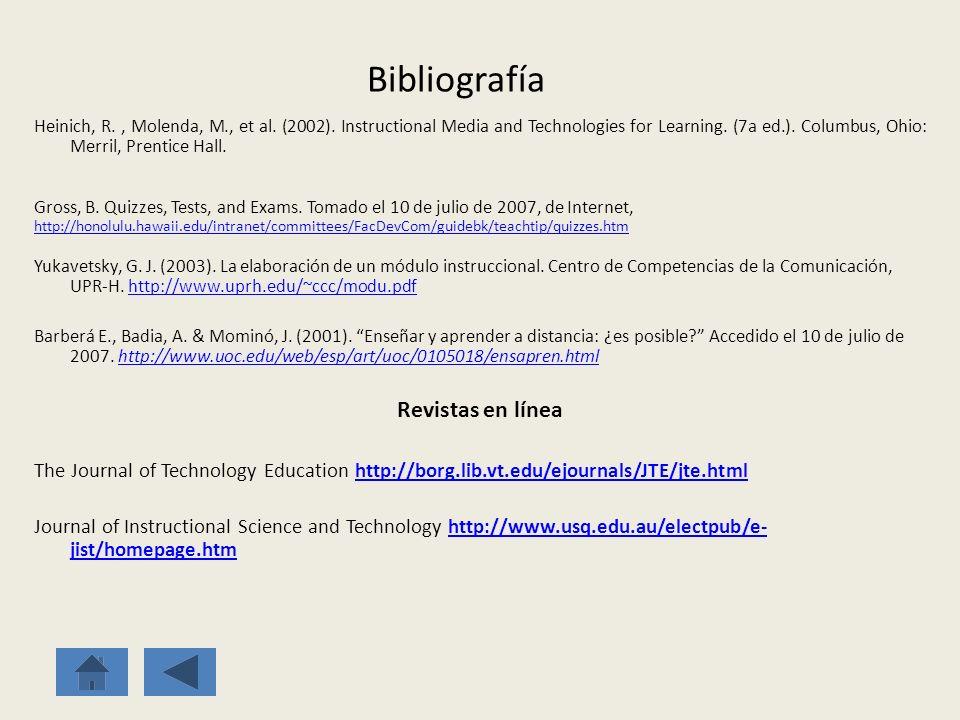 Bibliografía Revistas en línea