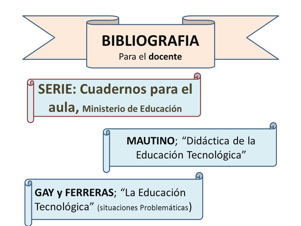 SERIE: Cuadernos para el aula, Ministerio de Educación