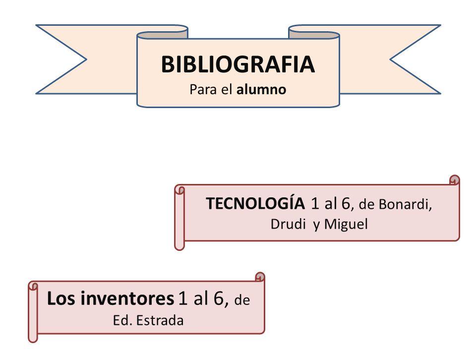 BIBLIOGRAFIA Los inventores 1 al 6, de Ed. Estrada