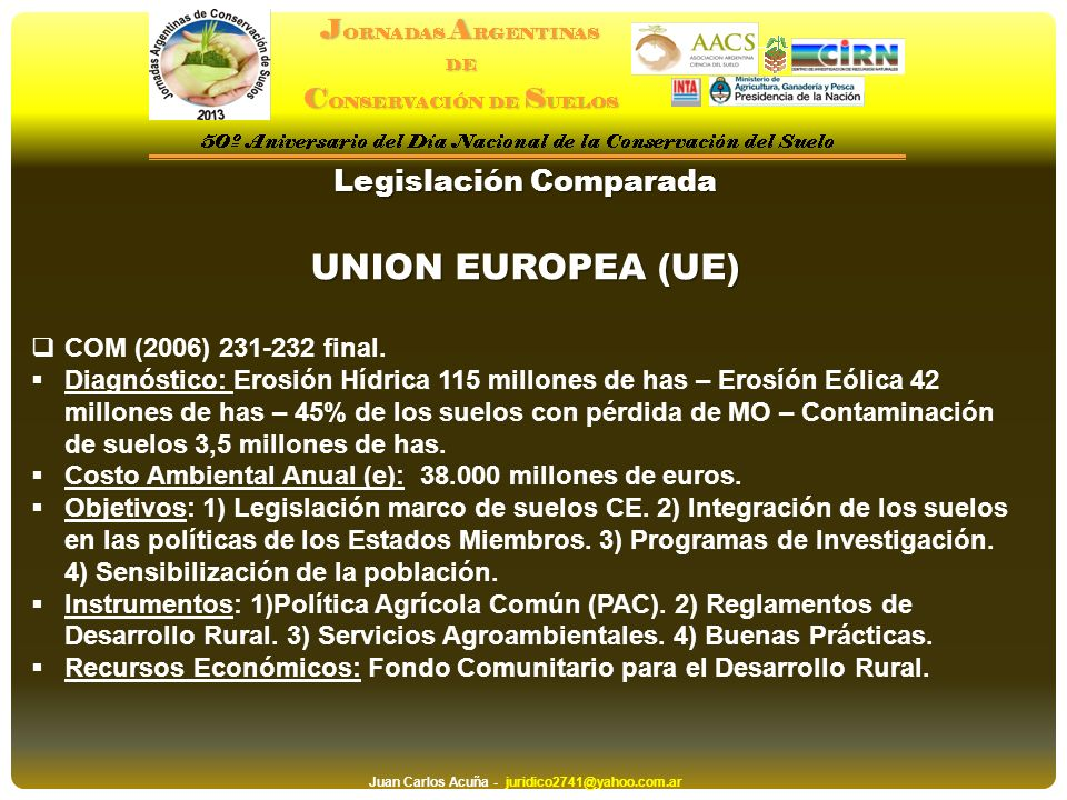 Legislación Comparada Juan Carlos Acuña - juridico2741@yahoo.com.ar