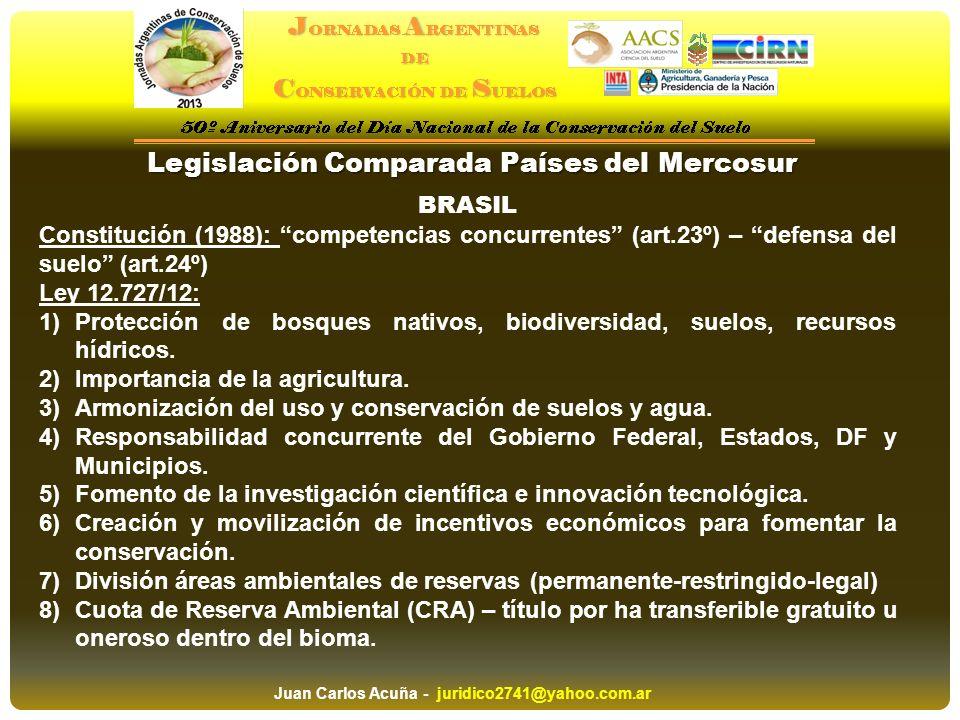 Legislación Comparada Países del Mercosur