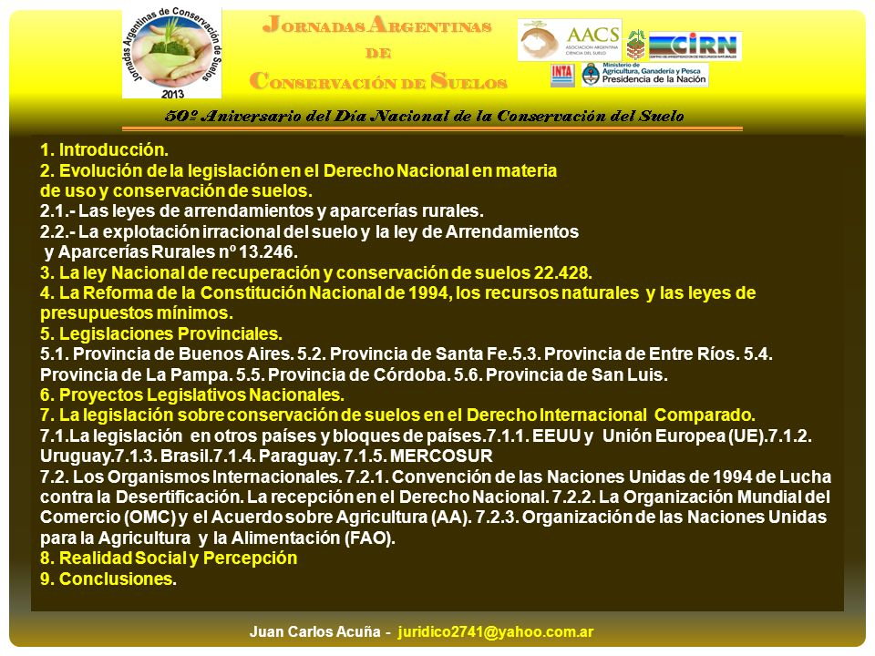 2. Evolución de la legislación en el Derecho Nacional en materia