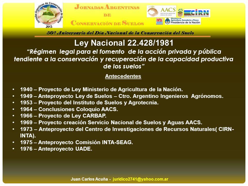 Ley Nacional 22.428/1981