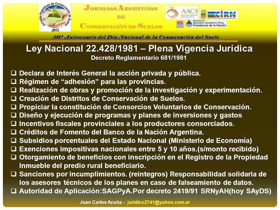 Ley Nacional 22.428/1981 – Plena Vigencia Jurídica