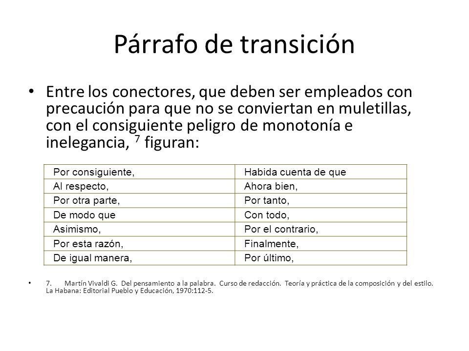 Párrafo de transición