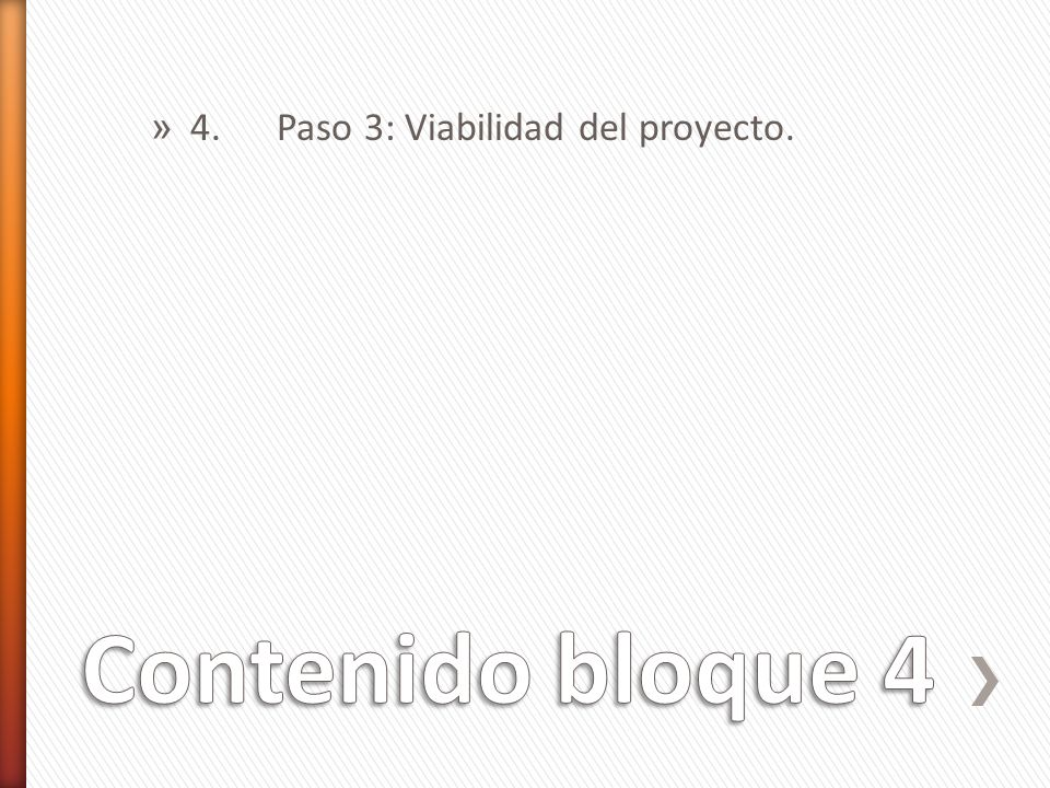 4. Paso 3: Viabilidad del proyecto.